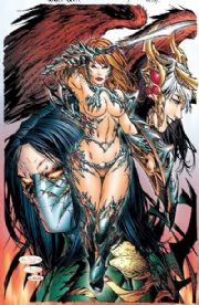 Broken Trinity #3 Fantastic Realm Wizard World Texas WWT E-Bas Virgin Variant Witchblade comic book
